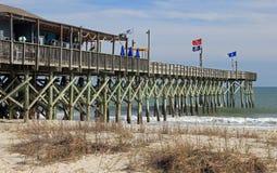 Myrtle Beach South Carolina Pier Stock Foto