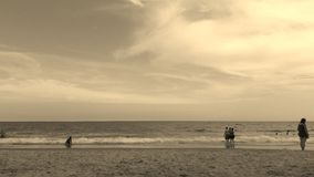 Myrtle Beach, South Carolina. Sepia Filter Royalty Free Stock Images
