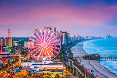 Myrtle Beach, South Carolina, USA Skyline. Myrtle Beach, South Carolina, USA city skyline stock photography