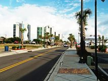 myrtle beach view amazing road view hotels blue Royalty Free Stock Photos