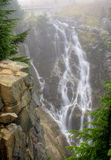 Myrtle Falls. On a foggy day at Mt. Rainier National Park royalty free stock images