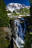Myrtle Falls on Mount Rainier, Wash. Royalty Free Stock Photo