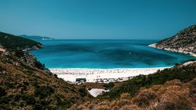 Myrton Beach on the Mediterranean, Kefalonia, Greece stock photos