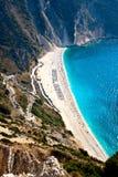 myrtos пляжа Стоковые Изображения