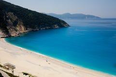 myrtos пляжа Стоковое Изображение RF