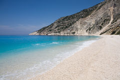 Myrtos beach Royalty Free Stock Images