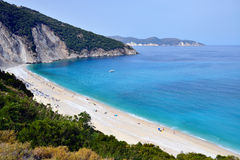 Myrtos beach, Greece Royalty Free Stock Photos