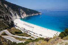 Myrtos beach, Kefalonia Royalty Free Stock Image