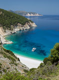 Myrtos beach on Kefalonia, Greece. Royalty Free Stock Photos