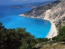 Myrtos Beach, Kefalonia, Greece Royalty Free Stock Images