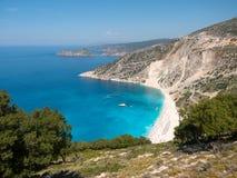 Myrtos beach in Kefalonia, Greece Royalty Free Stock Photography