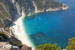 Myrtos Beach, Kefalonia, Greece Royalty Free Stock Photos