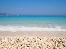 Myrtos Beach. Beach of Myrtos, Kefalonia Island, Greece Stock Photo
