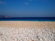 Myrtos Beach. Beach of Myrtos, Kefalonia Island, Greece Royalty Free Stock Images