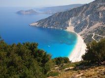 Myrtos Beach. Beach of Myrtos, Kefalonia Island, Greece Stock Image