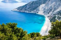 Myrtos beach, Kefalonia island, Greece Royalty Free Stock Image