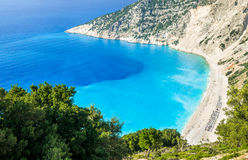 Myrtos beach, Kefalonia island, Greece Royalty Free Stock Photo
