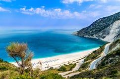 Myrtos beach, Kefalonia island, Greece Royalty Free Stock Photography