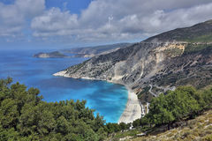 Myrtos beach, Kefalonia Island, Greece Royalty Free Stock Photo