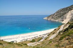 Myrtos beach in Kefalonia island Stock Photography