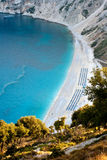 Myrtos beach, Kefalonia Royalty Free Stock Photography