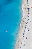 Myrtos beach with people, Kefalonia island, Greece Stock Photography