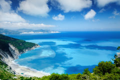 Myrtos beach royalty free stock photography