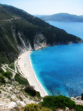 Myrtos in Cephalonia Stock Photography