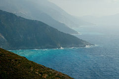 Myrtos coastline Royalty Free Stock Photo