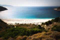 Myrtos, Kefalonia, Griechenland stockfotos