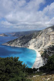 Myrtos plaża, Kefalonia wyspa, Grecja Zdjęcia Royalty Free