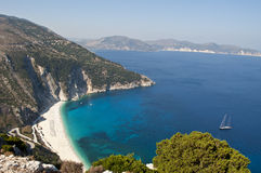 Myrtos plaża, Kefalonia, Grecja Obraz Royalty Free