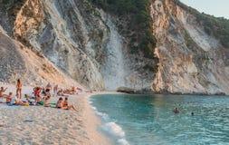Myrtos Plażowe Ionian wyspy Zdjęcie Stock