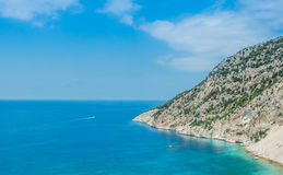 Myrtos Plażowe Ionian wyspy Zdjęcie Royalty Free