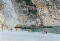 Myrtos Plażowe Ionian wyspy Fotografia Stock