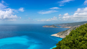 Myrtos Strand lizenzfreies stockbild