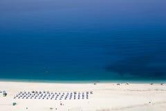 Myrtos Strand Kefalonia Stockbild