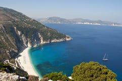 Myrtos-Strand, Kefalonia, Griechenland Lizenzfreies Stockbild