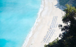 Myrtos-Strand von Kefalonia-Insel Lizenzfreie Stockfotos