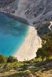 Myrtosstrand, Kefalonia, Griekenland Royalty-vrije Stock Afbeeldingen