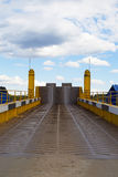 Myshkin, Russia - may, 04, 2016: the Road leading to the ferry. The Road leading to the ferry in the city of Myshkin Stock Images