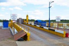 Myshkin, Russie - peuvent, 04, 2016 : la route menant au ferry Images libres de droits