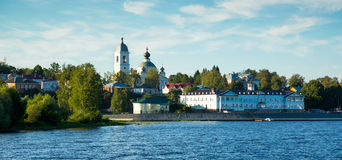 Myshkin town cityscape. View on small provincial town Myshkin located on Volga river Stock Images
