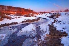 Myshkino-Dorf, Russland Stockbild
