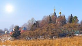 Myshkino Village, Russia. Stock Photo