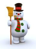 mysig le snowman Royaltyfri Fotografi