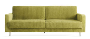 Mysig modern soffa arkivfoton