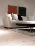 mysig sofa Fotografering för Bildbyråer