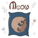 Mysig vektorillustration - katt och kattunge royaltyfri illustrationer