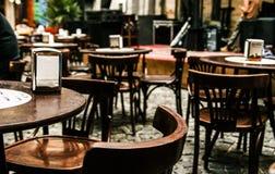 Mysigt kafé i Lvov Royaltyfri Fotografi